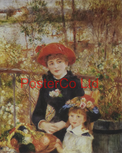 "Two Sisters or On the Terrace - Pierre-Auguste Renoir - Bernard Pictures - Framed Print - 14""H x 11""W"