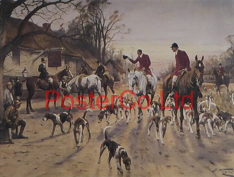 "A Hunting Morn - George Wright - Framed Print - 11""H x 14""W"