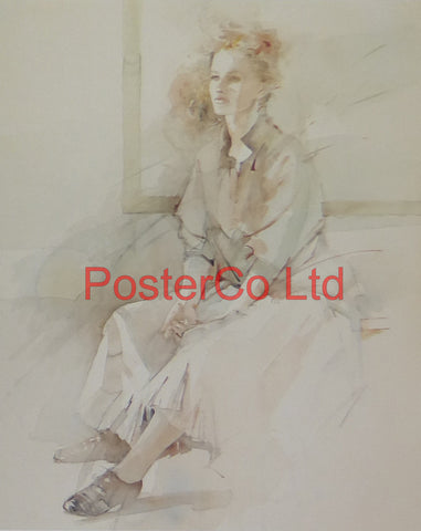 "Expectation (Lady) - Christine Comyn - Felix rose 1989 - Framed Print - 14""H x 11""W"