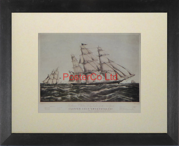 "Clipper Ship ""Sweepstakes"" - Framed Print - 11""H x 14""W"