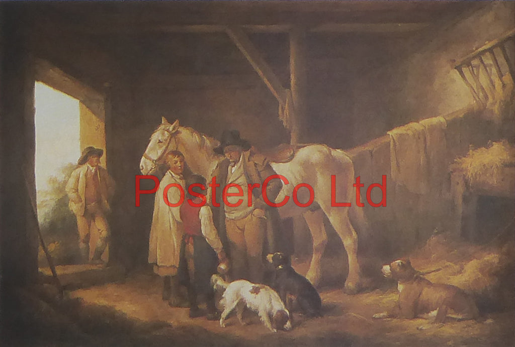"The Reckoning (Horses) - George Charles Morland - Kingfisher - Framed Print - 11""H x 14""W"