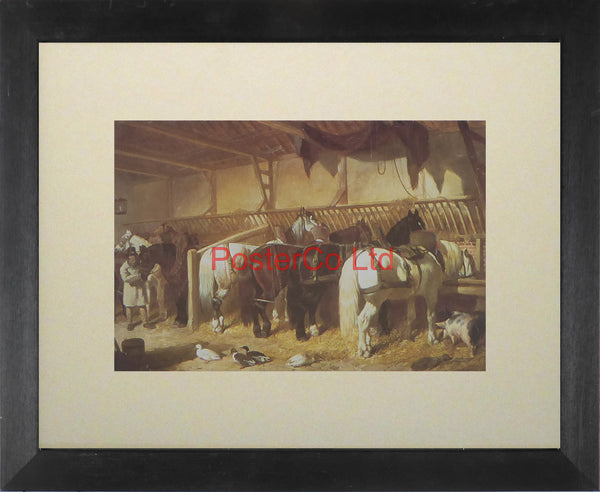 "The Team (Horses) - John Frederick Herring - Kingfisher - Framed Print - 11""H x 14""W"