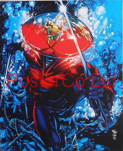 "Black Manta (Aquaman Villain) - Framed Print - 16""H x 12""W"