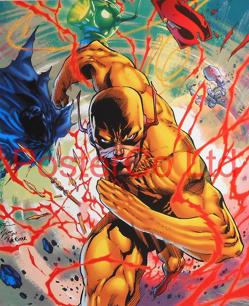 "Reverse-Flash or Professor Zoom (The Flash Villain) - Framed Print - 16""H x 12""W"