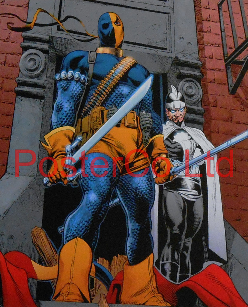"Deathstroke (Green Arrow / Teen Titans Villain) - Framed Print - 16""H x 12""W"
