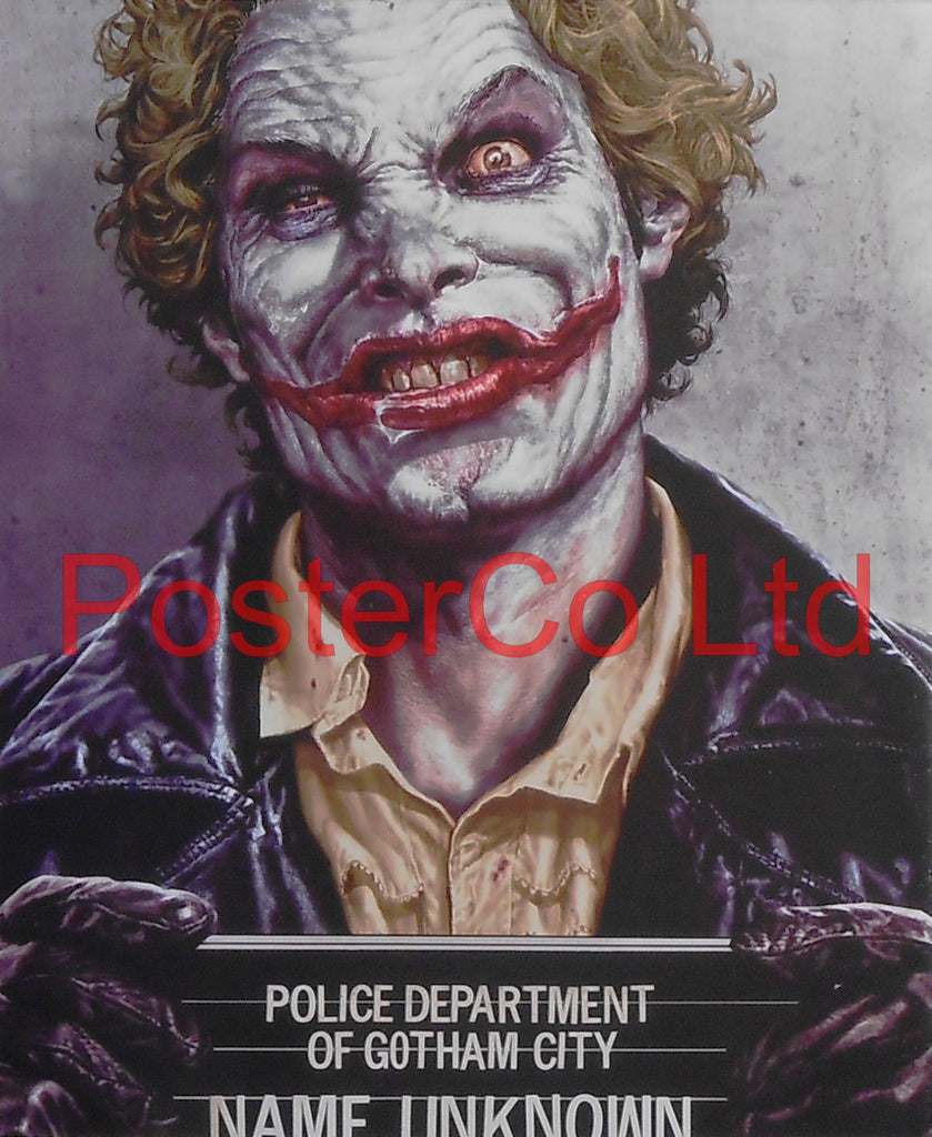 "The Joker - Mug Shot (Batman Villain) - Framed Print - 16""H x 12""W"