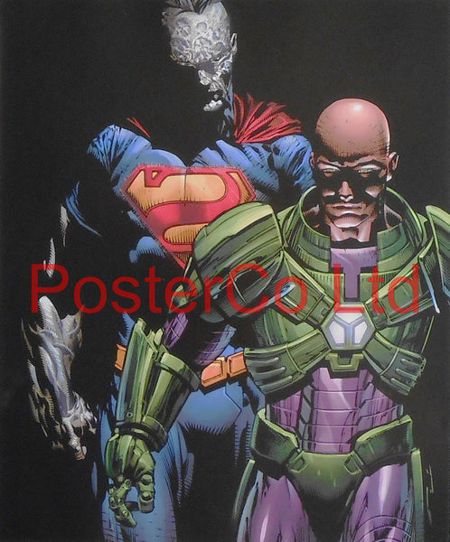 "Lex Luthor & Bizzaro (Superman Villain) - Framed Print - 16""H x 12""W"