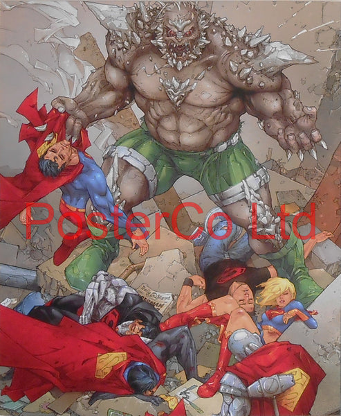 "Doomsday (Superman / Batman Villain) - Framed Print - 16""H x 12""W"
