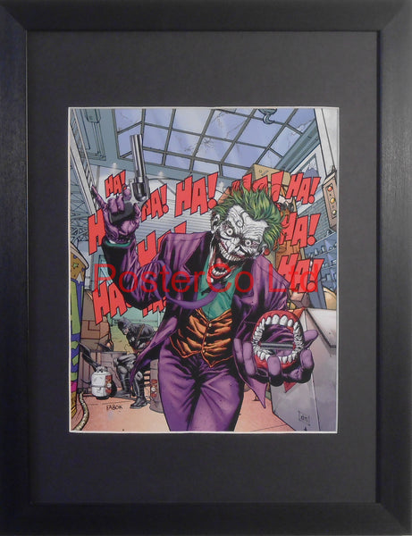 "The Joker - (Batman Villain) - Framed Print - 16""H x 12""W"