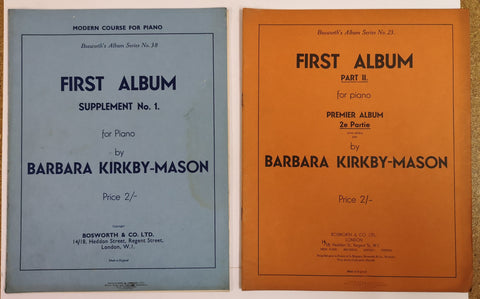 Barbara Kirkby-Mason - First Album for Piano (X2) - Vintage - Music Guide