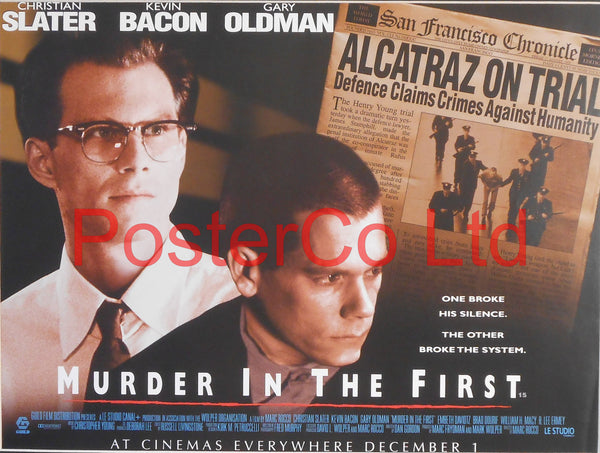 "Murder in the First - Lobby Poster - Framed 12""H x 16""W"