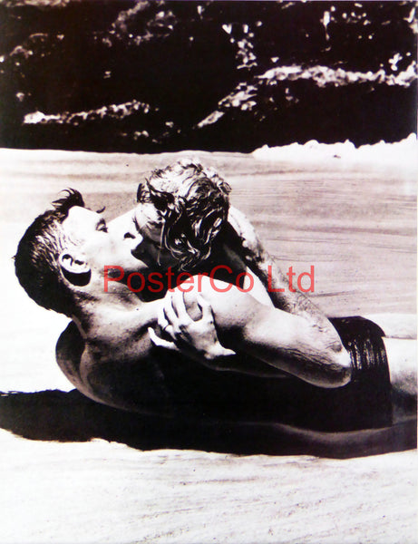 "Burt Lancaster Beach scene - From Here to Eternity  - Framed Picture 16""H x 12""W"