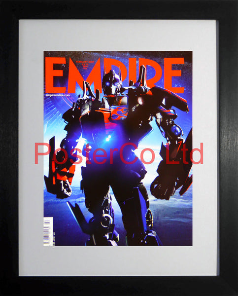 "Transformers Empire cover February 2007 (Film Magazine)  - Framed 16""H x 12""W"