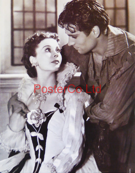 "Laurence Olivier and Vivien Leigh from Fire over England  - Framed Picture 16""H x 12""W"
