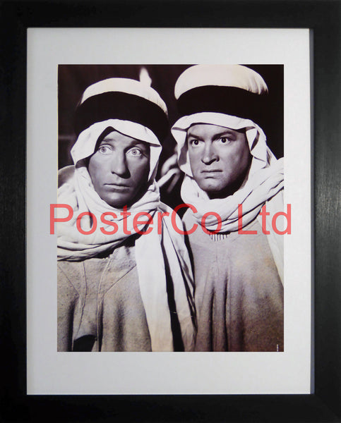 "Bing Crosby and Bob Hope Arab Costume from Road to Morocco  - Framed Picture - 16""H x 12""W"