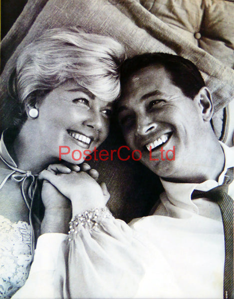 "Doris Day and Rock Hudson scene from Pillow Talk  - Framed Picture 16""H x 12""W"