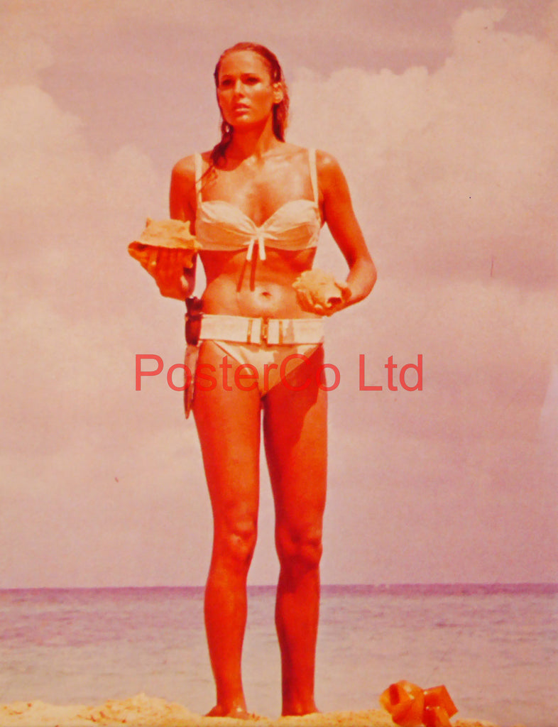 "Ursula Andress emerging from sea in Dr No  - Framed Picture 16""H x 12""W"
