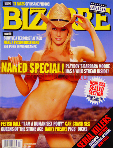 "Bizarre cover September 2002 (Magazine)  - Framed 16""H x 12""W"