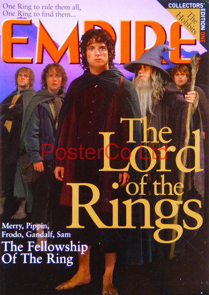 "Lord of the rings - Hobbits - Empire magazine Collectors edition one cover (Film Magazine)  - Framed 16""H x 12""W"