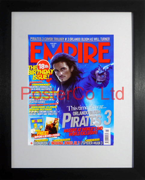"Pirates of the Carribean Empire cover June 2007 (Film Magazine)  - Framed 16""H x 12""W"