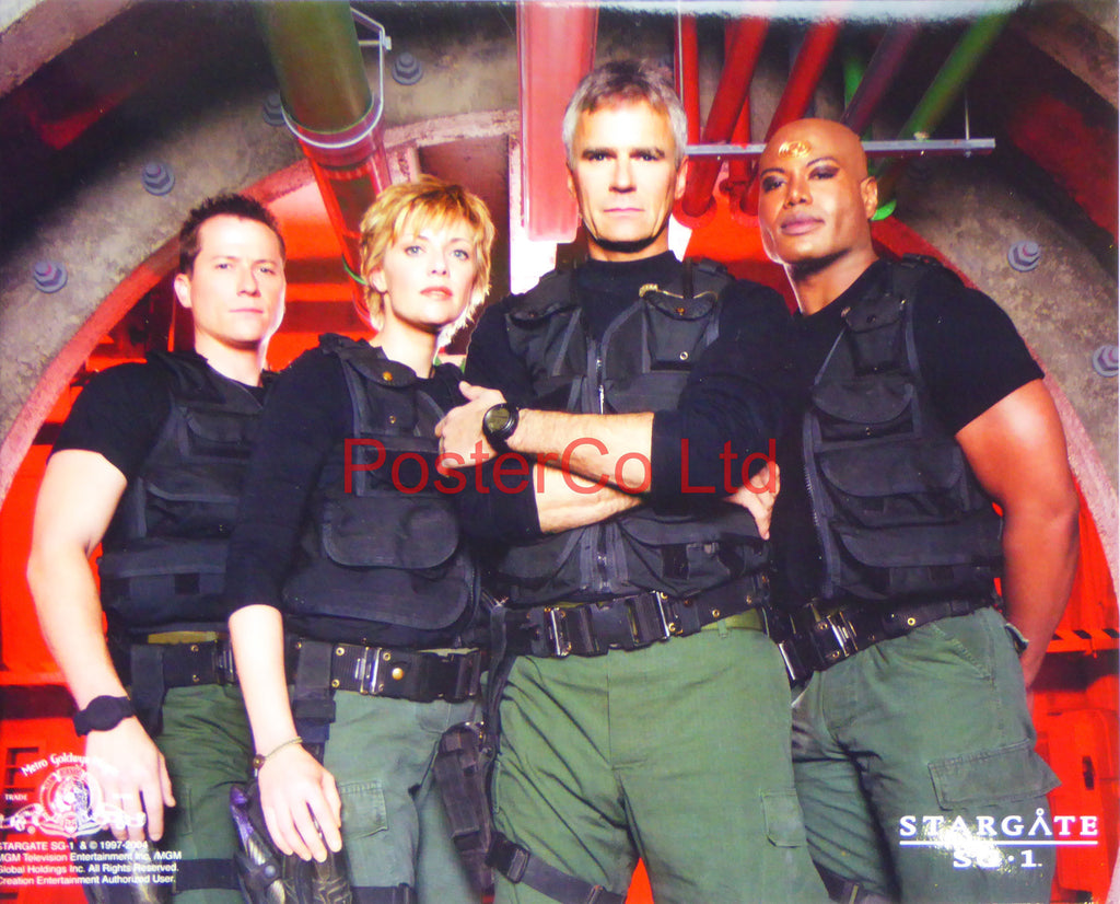 "Stargate SG1 Team with Jack O'Neill - Framed print 12""H x 16""W"