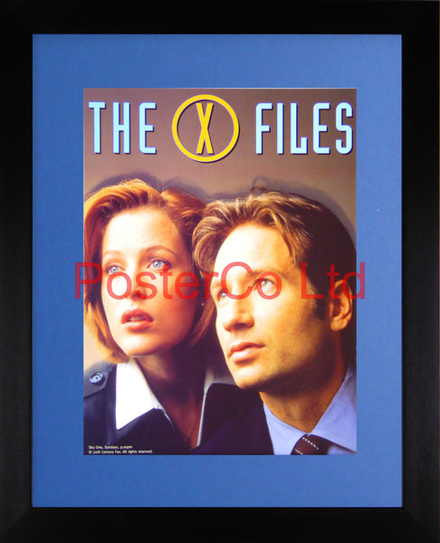 "Gillian Anderson and David Duchovny X Files Promo - Framed print 16""H x 12""W"