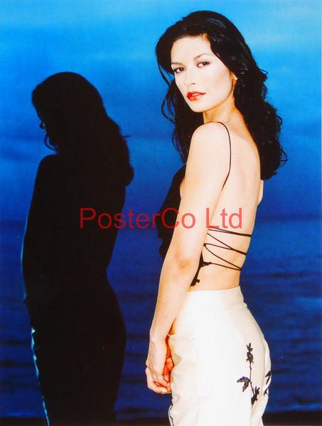 "Catherine Zeta Jones - Framed print 16""H x 12""W"