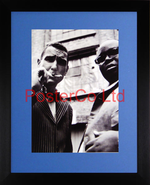 "Bullet-Tooth Tony and Tyrone - Vinnie Jones & Ade - Snatch - Framed print 16""H x 12""W"