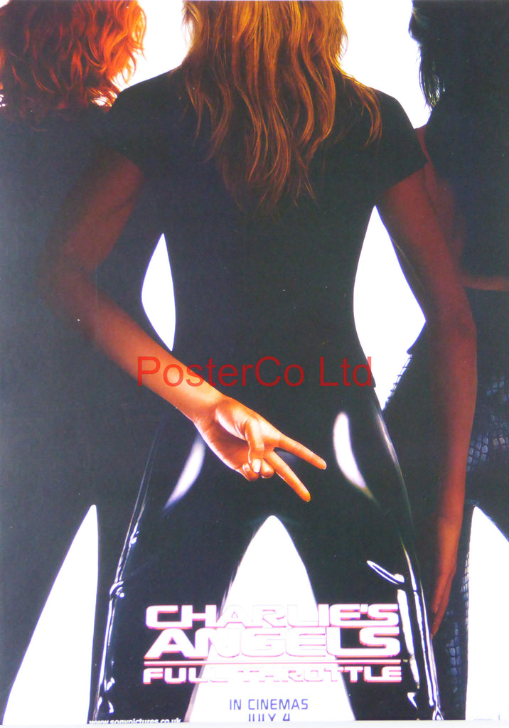 "Charlies Angels Full Throttle - Lobby Poster  - Framed print 16""H x 12""W"