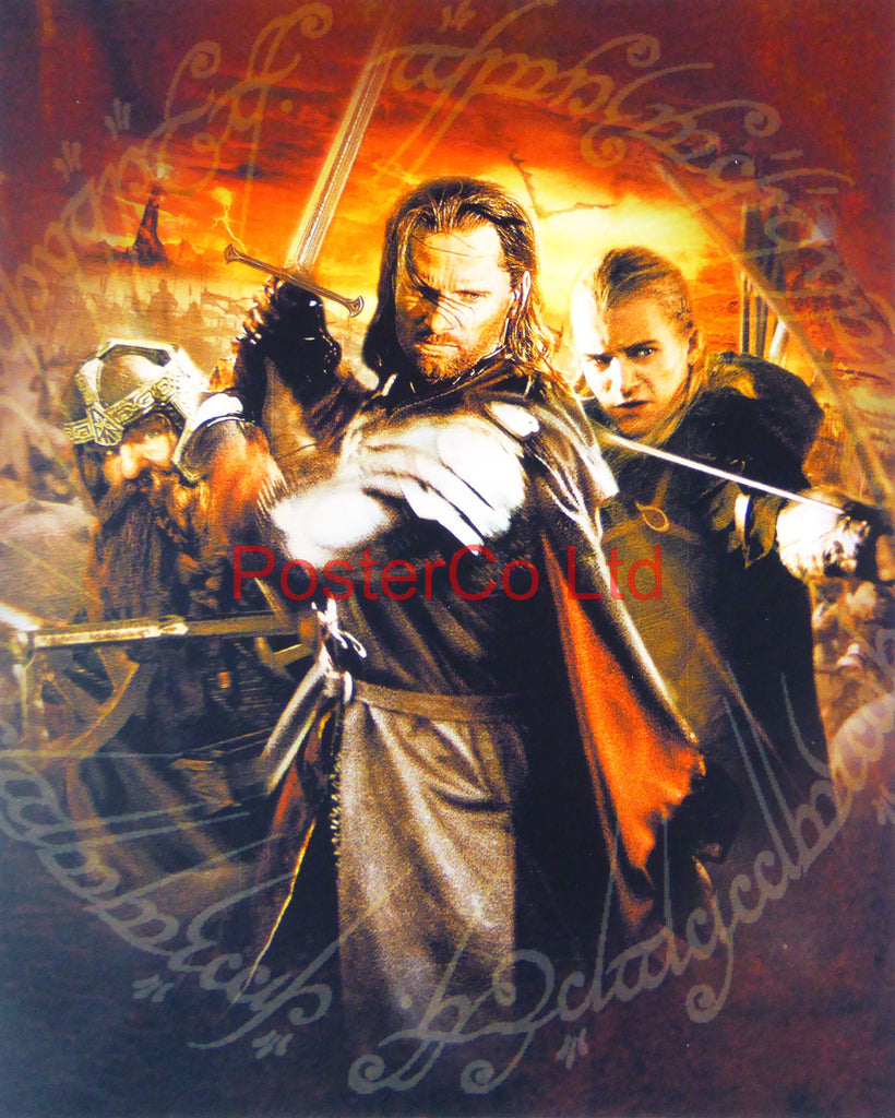"Lord of the Rings - Aragorn, Legolas and Gimli - Framed print 16""H x 12""W"
