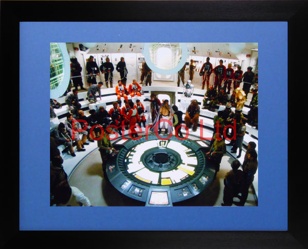"Star Wars - A New Hope - Deathstar Briefing scene - Framed print 12""H x 16""W"
