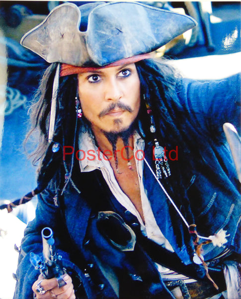 "Jack Sparrow  - Johnny Depp - Pirates of the Carribean- Framed print 16""H x 12""W"