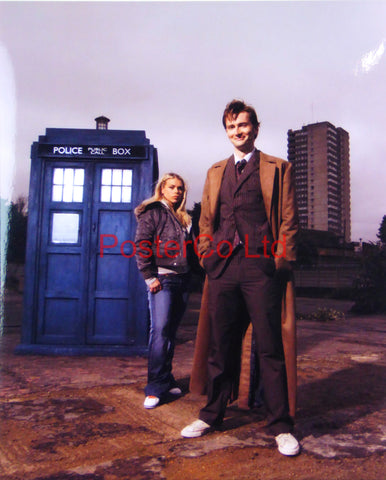 "Dr Who and Rose- Framed print 16""H x 12""W"