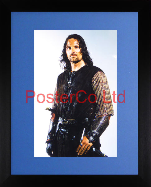 "Lord of the Rings - Aragorn - Viggo Mortensen - Framed print 16""H x 12""W"