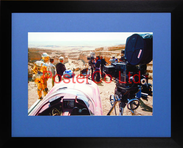 "Star Wars - A New Hope -  Planet Tatooine - Behind the Scenes - Framed photo 12""H x 16""W"