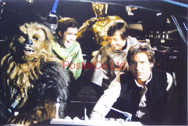 "Star Wars - Return of the Jedia - Outtake in Millenium Falcon - Behind the Scenes - Framed photo 12""H x 16""W"