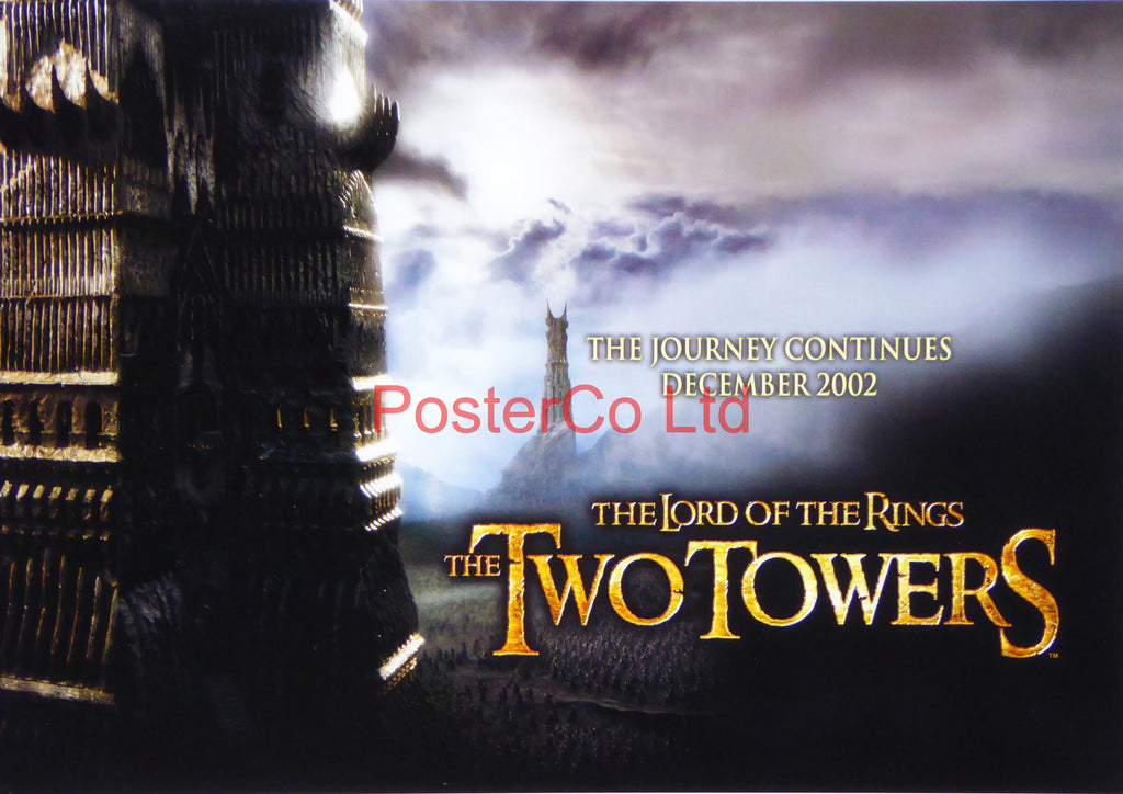 "Lord of the Rings - The Two Towers - Lobby Poster  - Framed print 12""H x 16""W"