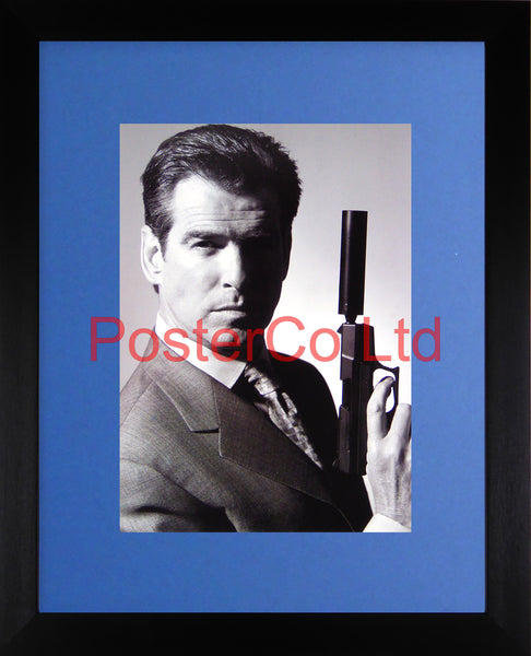 "James Bond - Pierce Brosnan - promo shot - Framed print 16""H x 12""W"