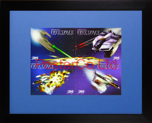 "Game advert for FreeSpace: The Great War by Interplay - Framed postcards 12""H x 16""W"
