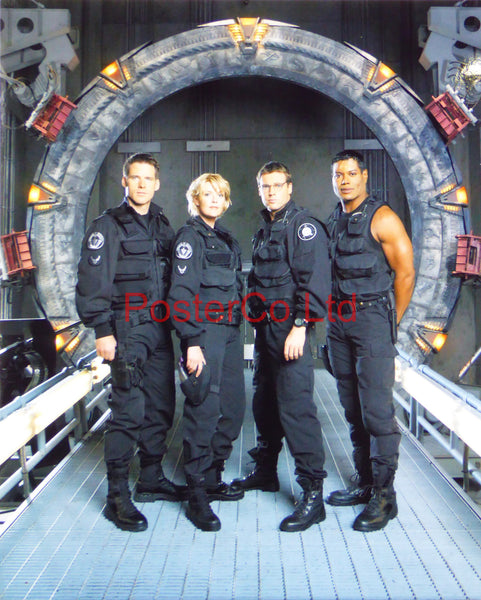 "Stargate SG1 Team with Cameron Mitchell - Framed print 16""H x 12""W"