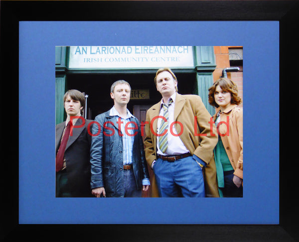 "Life on Mars team promo shot - Framed Print 12""H x 16""W"