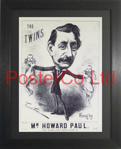"The Twins - Sheet Music Art - Framed Print - 16""H x 12""W"