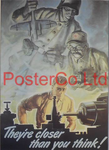 "American WWII Propaganda Poster - Civilian - Production - Framed Picture - 14""H x 11""W"