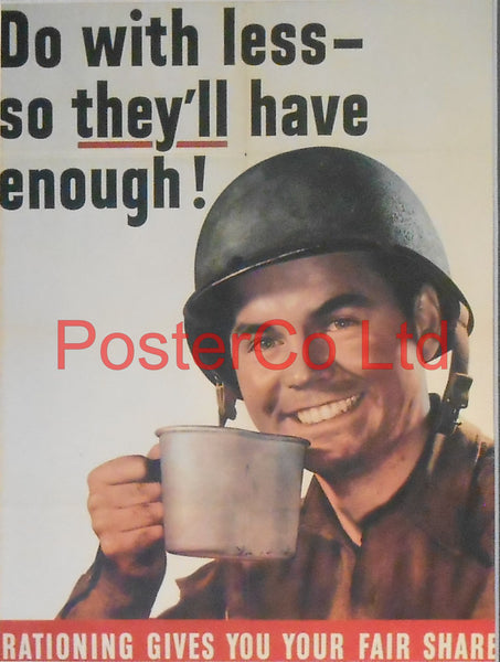"American WWII Propaganda Poster - Civilian Poster to ensure Civilians aid the US Forces-  Framed Picture - 14""H x 11""Wz"