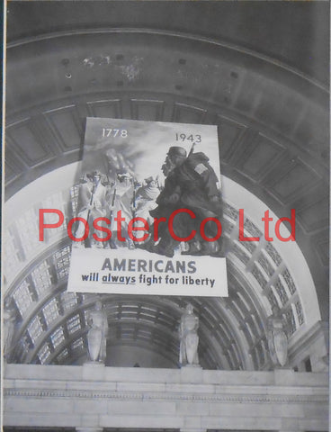 "American WWII Propaganda - Example of a Poster in use at Grand Central Station-  Framed Picture - 14""H x 11""Wz"