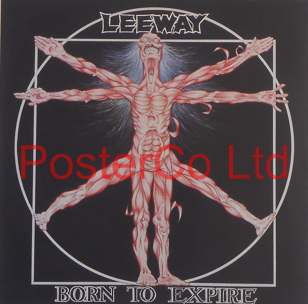 "Leeway- Born to Expire (Album Cover Art) - Framed Print - 16""H x 16""W"