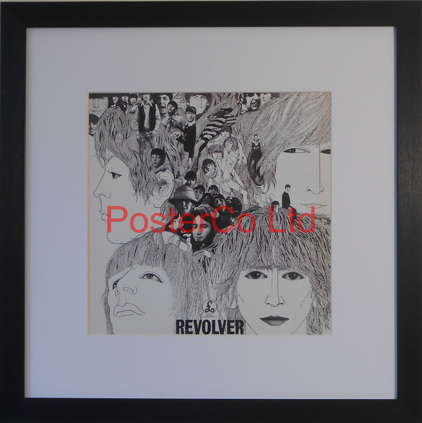 "The Beatles - Revolver (Album Cover Art) - Framed Print - 16""H x 16""W"