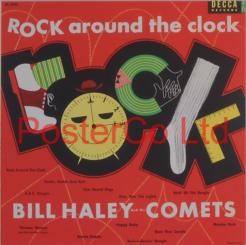 "Bill Hayley and the Comets - Rock Around The Clock (Album Cover Art) - Framed Print - 16""H x 16""W"