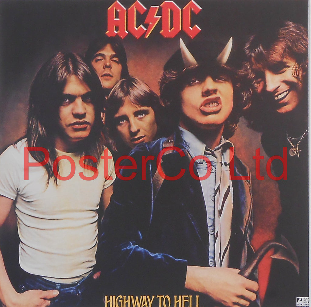 "AC/DC - Highway To Hell (Album Cover Art) - Framed Print - 16""H x 16""W"