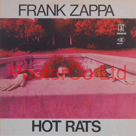 "Frank Zappa - Hot Rats (Album Cover Art) - Framed Print - 16""H x 16""W"
